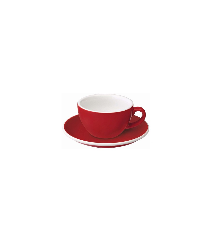 Loveramics Egg - Filiżanka i spodek Flat White 150 ml - Red