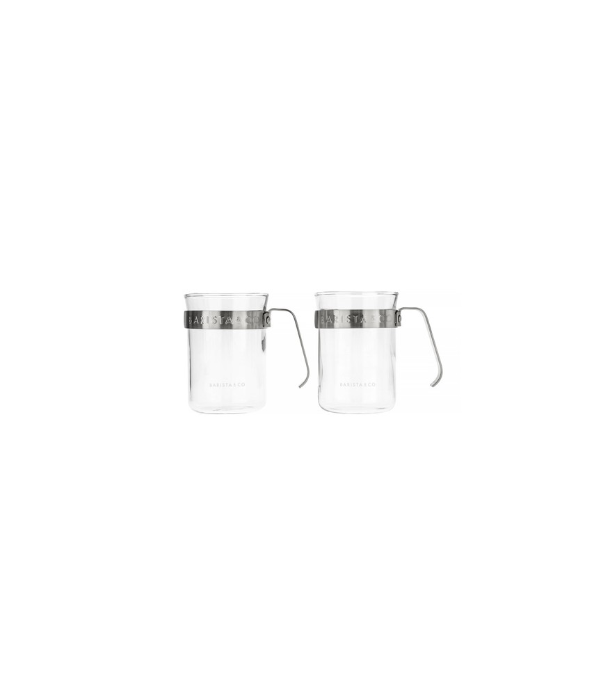 Barista & Co - Metal Framed Cups Steel - Kubki 2 szt.